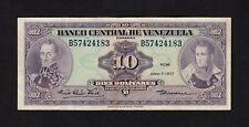 F.C. VENEZUELA , 10 BOLIVARES 1977 , MBC ( VF ) , P.51f .
