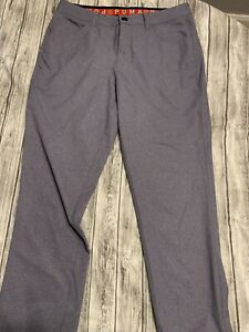 Puma Mens Pants 30 X30 Golf Polyester Spandex  Gray Lightweight