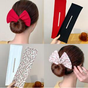 8 Colours Deft Bun Flexible Fashion Hair Bun Maker Magic Hairband French Twist