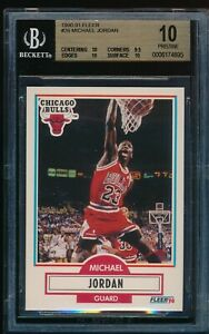 BGS 10 PRISTINE MICHAEL JORDAN 1990-91 Fleer #26 Chicago Bulls HOF GOAT RARE