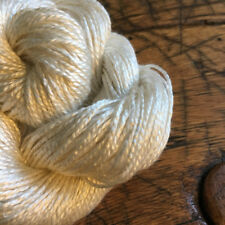 Two Ply Mulberry Silk Worsted Spun Yarn, Exclusive, Undyed, Natural White, 5Nm/2