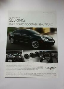 Chrysler Sebring Advert from 2007 - Original Ad Advertisement