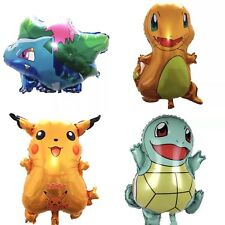 Lot de 4 Pokemon BALLONS Fête D'Anniversaire Cartoon PIKACHU BuIbasaur SquirtIe
