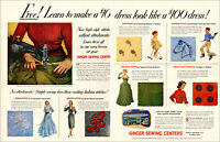 1952  AD SINGER SEWING CENTERS Learn Spark, Boucle, Spral stitch and more 022419