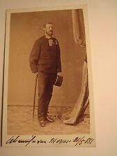 Meran - 1881 - stehender Soldat mit Bart in Uniform - Orden / CDV