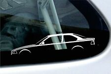 2x car silhouette stickers - for BMW E36 3-series Coupe 318is 320i 325i