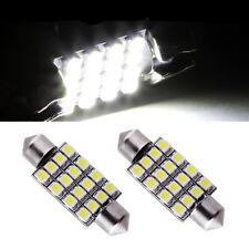 2 ampoules à LED navettes 42  mm 16 LED éclairage plafonnier C5W  blanc