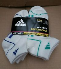 6 Pairs Adidas Women's Low Cut Performance Cushioned Socks - UK 3.5-7.5