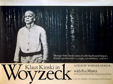 WOYZECK 1978 Klaus Kinski Eva Mattes WERNER HERZOG UK QUAD POSTER
