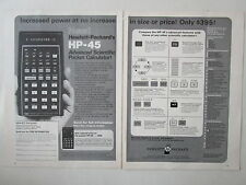 10/1973 PUB HP HEWLETT PACKARD HP-45 SCIENTIFIC CALCULATOR CALCULATRICE AD