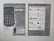 10/1973 PUB HP HEWLETT PACKARD HP-45 SCIENTIFIC CALCULATOR CALCULATRICE AD