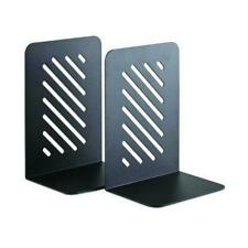 STEELMASTER 8-Inch Heavy Duty Slotted Bookend, Black (24190004) 24190004