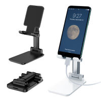 Aluminium Folding Desktop Stand for Mobile Phones and Tablets, Adjustable Height