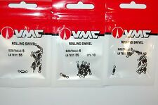 3 packs vmc rolling swivel  size 6  55lb test 10 pr pack rs#6 saltwater fresh 2