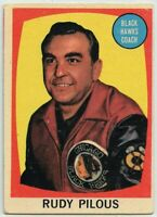 1961-62 Topps Hockey #23 Rudy Pilous CO RC VG-EX Condition (2020-13)