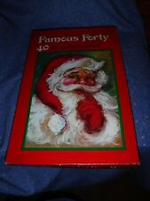 Older Christmas Card Box Only Westchester Great Santa Graphics 13 7/8 x 9 3/16""