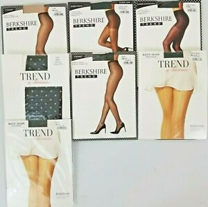 Berkshire Trend Pantyhose Hosiery Back Seam Fishnet Dot Sheer Diamonds Stockings