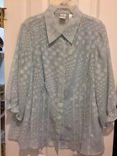 Women's Size 1X blouse Pale Green - 2 piece
