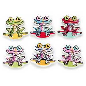 30pcs 2 Hole Cartoon Frog Wood buttons for Sewing Scrapbook Clothing Crafts 31mm