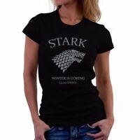 Stark Winter Is Coming Game of thrones Funny Ringer T-Shirt Women Short Sleeve
