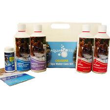 Chlorine Starter Kit 500g Hot Tubs Spas Aquasparkle Pools Ph+ Test Strips Ph-