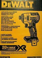 DEWALT DCF887B 20-Volt MAX XR 3-Speed 1/4 in Impact Driver Tool