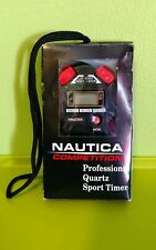Nautica Swimming Coach Running Marathon Stopwatch Splitwatch Timer Quartz