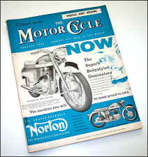 Vintage The MOTORCYCLE Magazine Oct.1959 Norton Royal Enfield Panther Villiers
