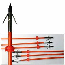 6PK GPP 32 inches Orange Hunting Bowfishing Arrows with Broadhead