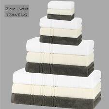 Zero Twist Towels 100% Egyptian Cotton Facecloths Hand Bath Sheets Super Soft
