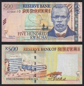Malawi 500 kwacha 2005 BB+/VF+  B-04