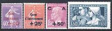 FRANCE ANNEE COMPLETE 1928 YVERT 249 / 252 , 4 TIMBRES NEUFS xx LUXE   M901J