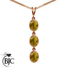 Collares y colgantes de joyería con gemas naranja naturales colgante
