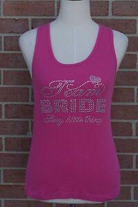 Team Bride Rhinestone Tank Top Victoria's Secret  Bride Pink Junior Size M