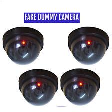 4x Fake Dummy CCTV Dome Security Camera Flashing LED  Warning Sign DCUK