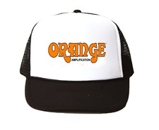 vintage Orange amplifiers hat Trucker Hat mesh hat black New