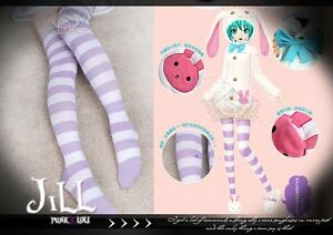 Lolita cosplay Hatsune Miku Project DIVA miss bunny stripe knee socks【JN7004】