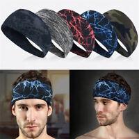 Fashion Women Men Stretch Headband Sport Sweat Sweatband Yoga Gym Hair Head Band