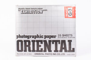 Oriental Seagull G-3 8x10 Bromide Photographic Paper 25 Sheets Stored Cold