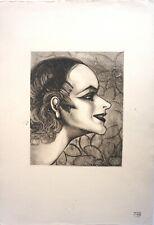 """G.H.TRIBOUT   """""""" portrait """"""""  Monotype"""
