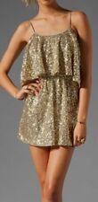 LOVERS + FRIENDS Gold Sequin Sun kissed  Party Dress SZ XS MSRP$216