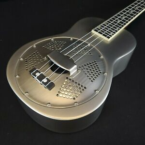 Gold Tone Resouke: Concert-Scale Metal Body Resonator Ukulele with Gig Bag