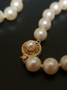 14k Gold Vintage Pearl Necklace