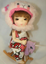 BJD 1/8 Doll Lovely pukiFee Arong Halloween Event free eyes +face up palm dolls