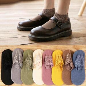 2021 Lace Warmer Socks Women Breathable Warmer Socks Boat Cotton Ankle Socks y