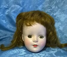 """Vtg 1950's""""American Character Sweet Sue""""Doll Head.Hp.Rooted Wig.For16""""Doll.Parts"""