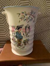 Vintage Crown Ducal Petit Pierre Vase 1950 Retro french Peasant Boy