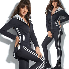 By Alina Jeans 2-Teiler Jeansjacke  Jeanshose Damenjacke Röhrenhose Weiß XS-M