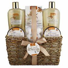Home Spa Gift Basket - White Rose & Jasmine - 11 Piece Bath & Body Spa Set