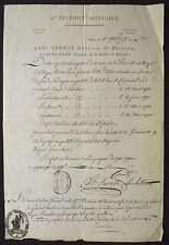 Maréchal JOURDAN & Général COURTE autographe 1802 / PIEMONT, belle pièce